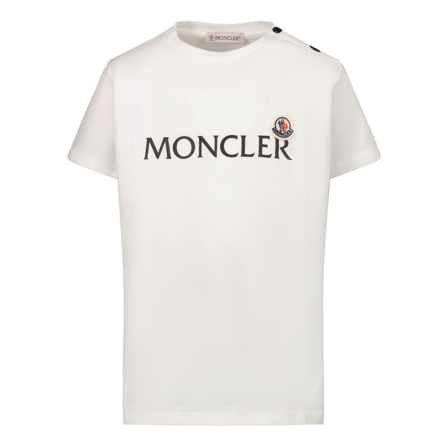 Afbeelding van Moncler 8C73820 baby t-shirt wit