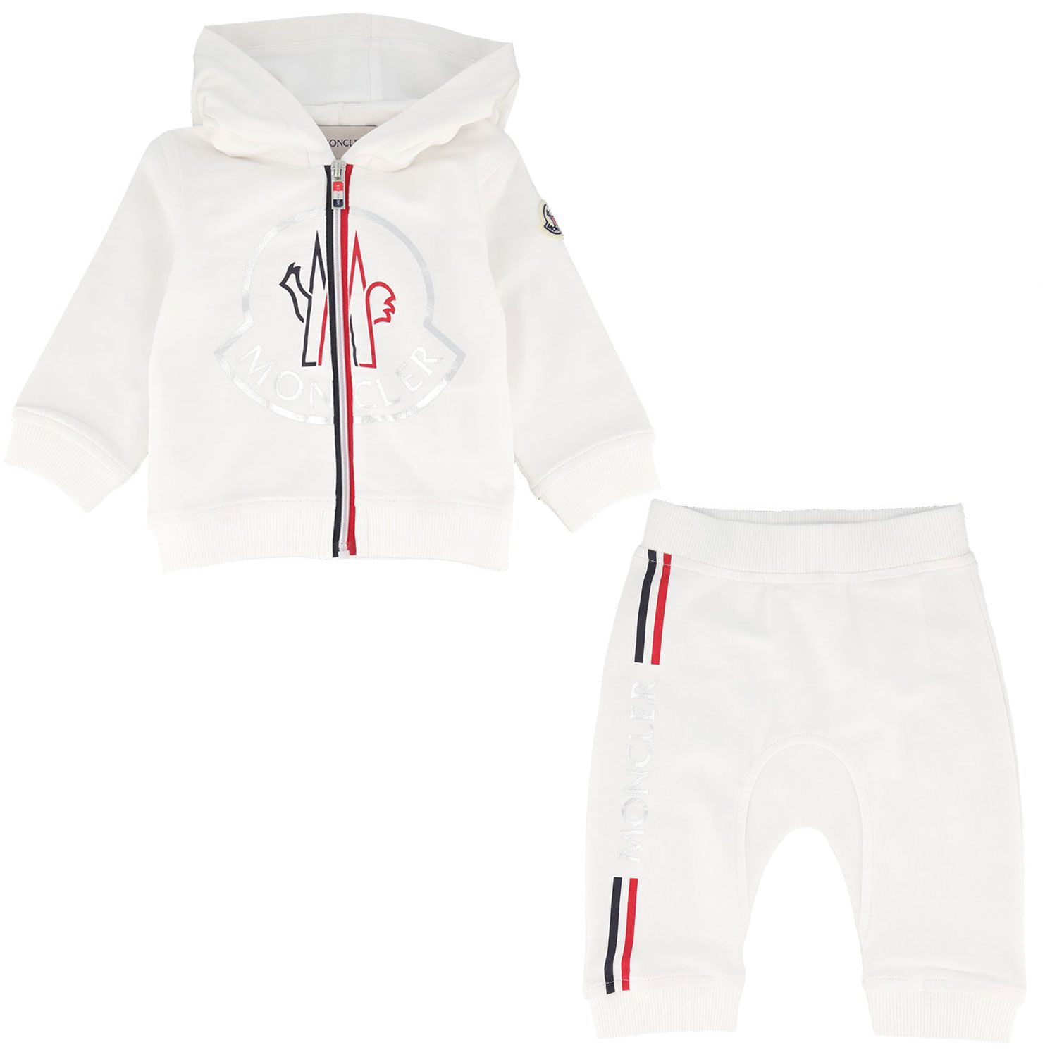 Picture of Moncler 8M73600 baby sweatsuit off white