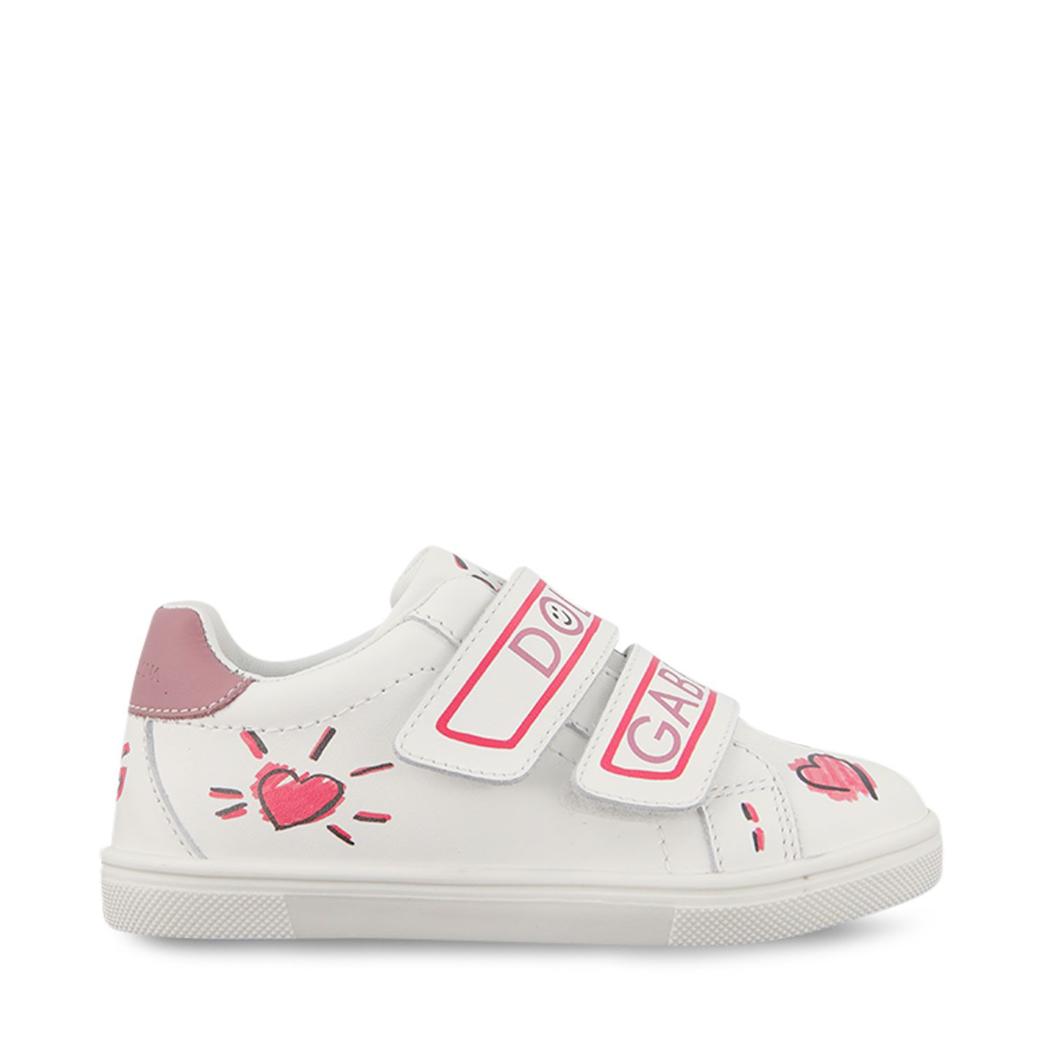 Picture of Dolce & Gabbana DN0157 A6C93 kids sneakers white