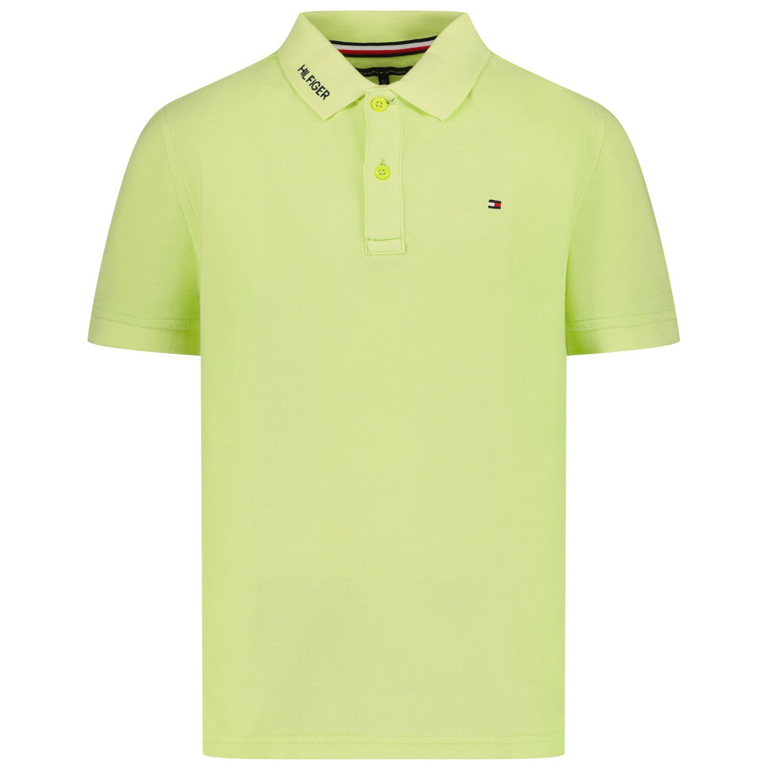 Picture of Tommy Hilfiger KB0KB06536 kids polo shirt lime