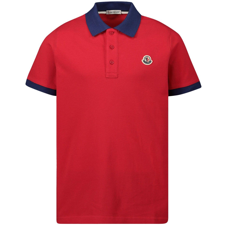 Bild von Moncler 8A70120 Kinder-Poloshirt Rot