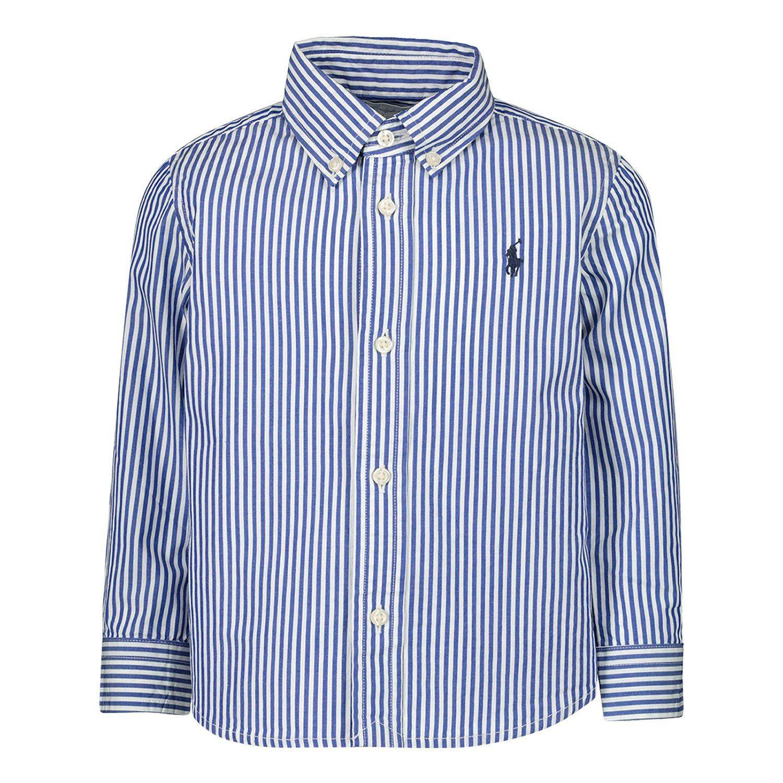 Afbeelding van Ralph Lauren 819240 kinder overhemd blauw