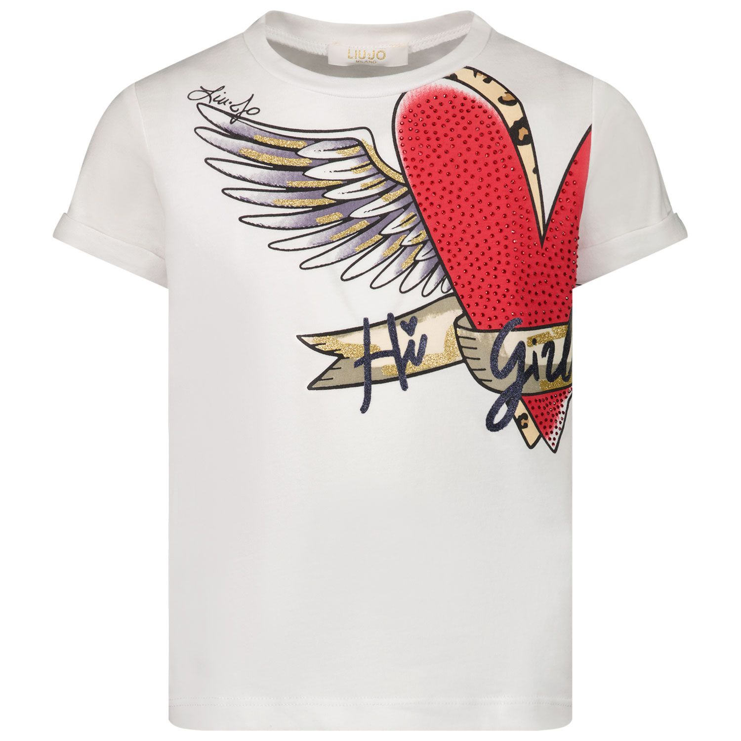 Picture of Liu Jo KA1067 kids t-shirt white