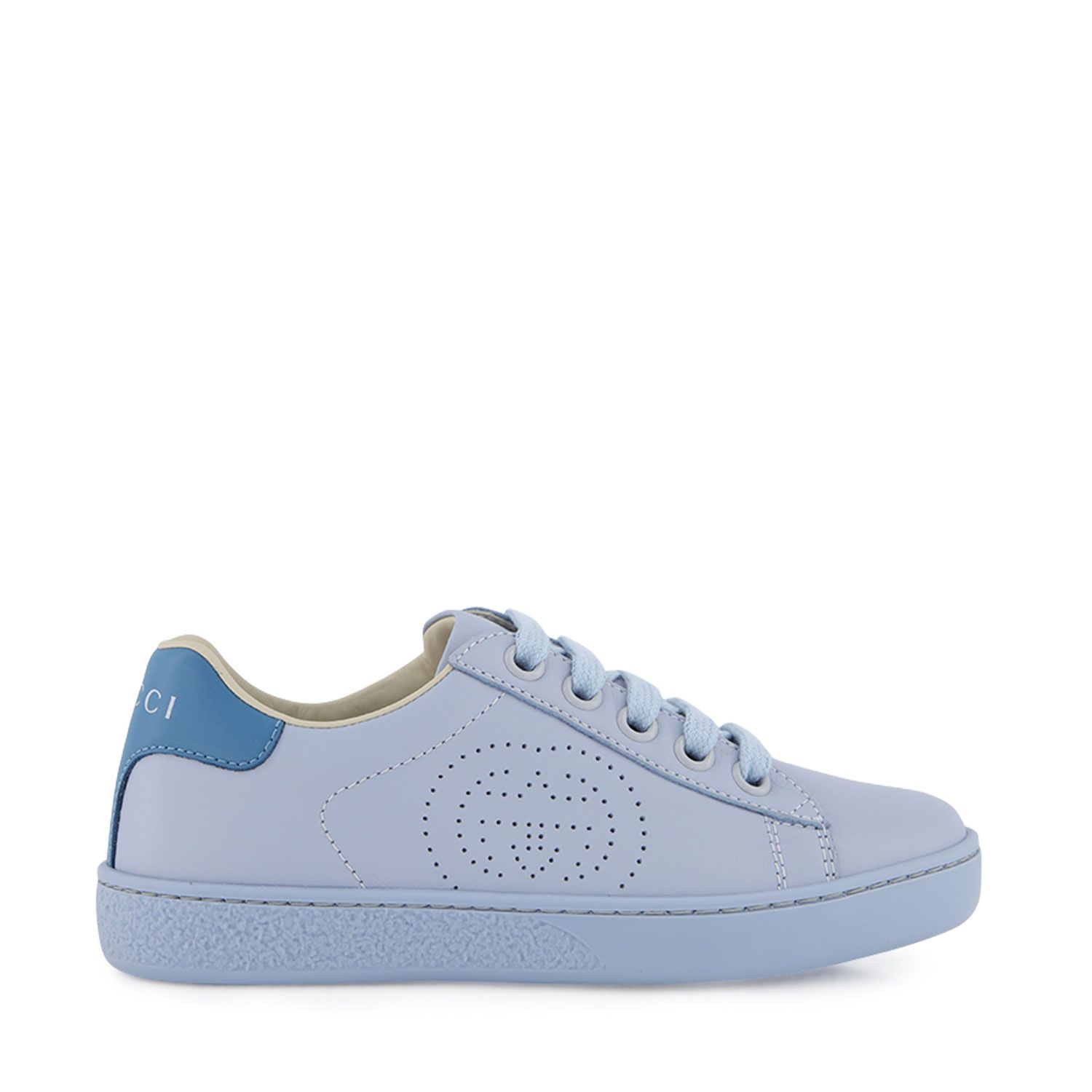 Picture of Gucci 626619 kids sneakers light blue