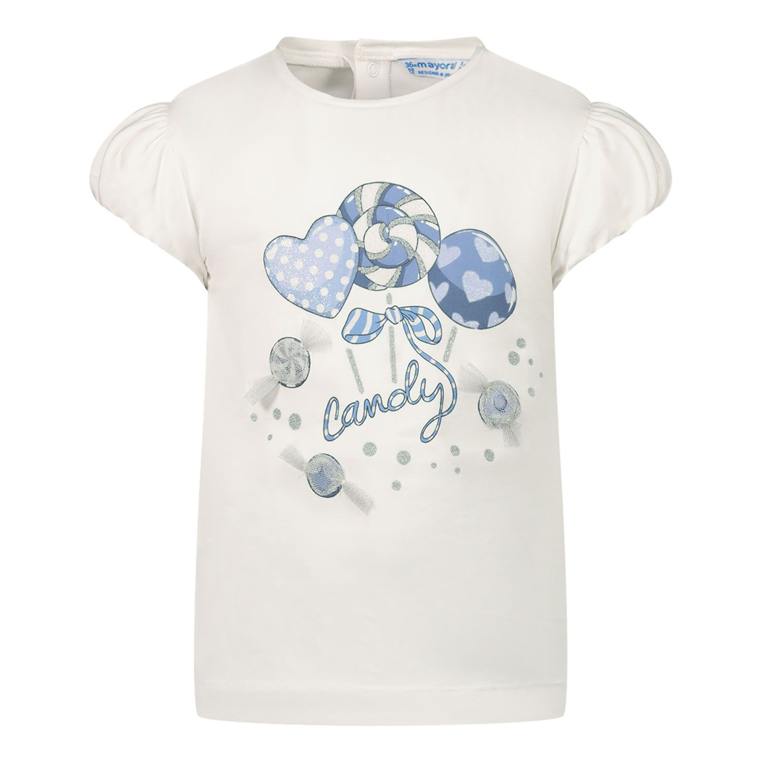 Picture of Mayoral 1081 baby shirt white