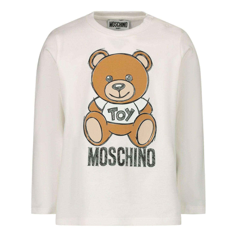 Bild von Moschino MVO000 Baby-T-Shirt Creme