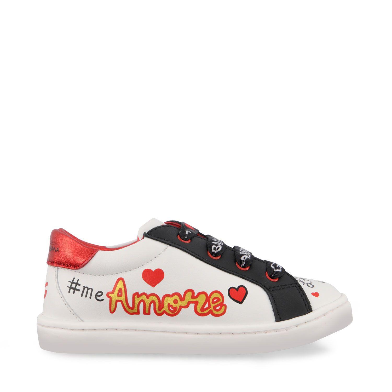 Afbeelding van Dolce & Gabbana DN0109 AV526 kindersneakers wit