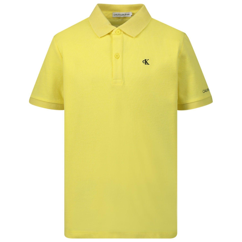 Bild von Calvin Klein IB0IB00376 Kinder-Poloshirt Gelb