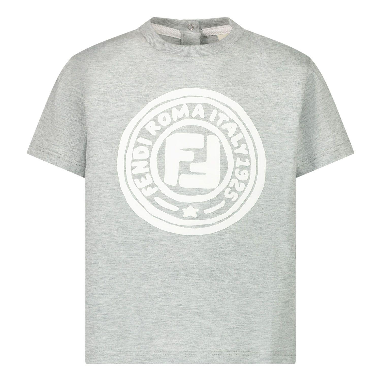 Picture of Fendi BMI211 baby shirt light gray