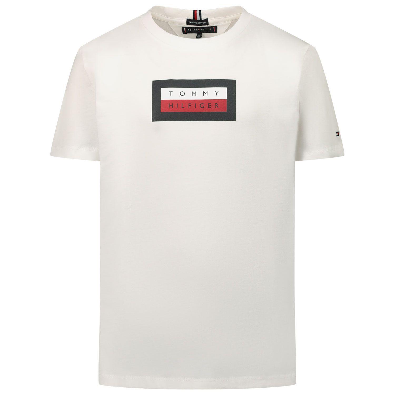 Afbeelding van Tommy Hilfiger KB0KB06518 kinder t-shirt wit