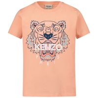 Picture of Kenzo K15079 kids t-shirt salmon