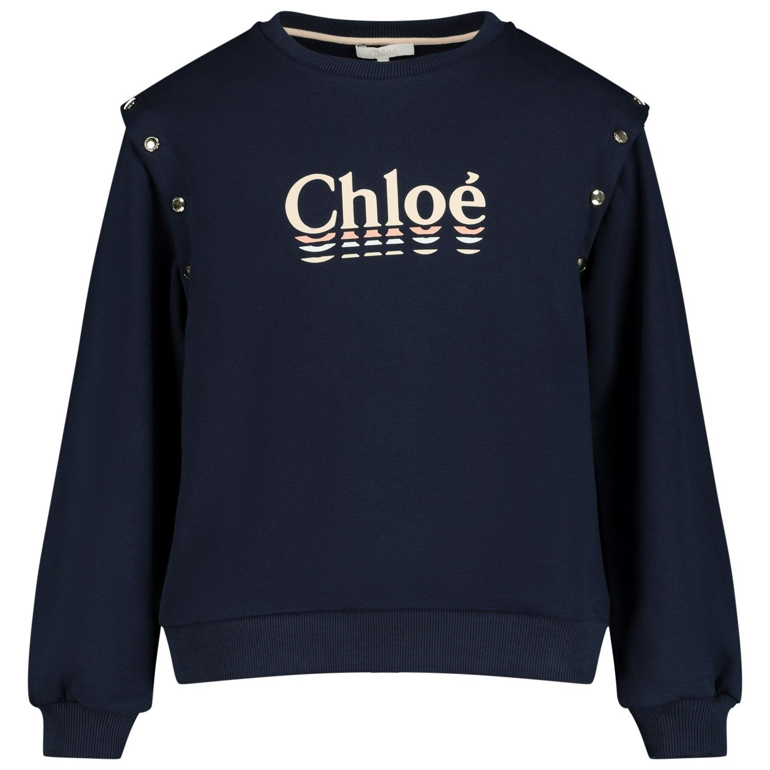 Picture of Chloé C15B09 kids sweater navy