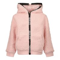 Picture of Guess H1BT06 kids jacket light pink