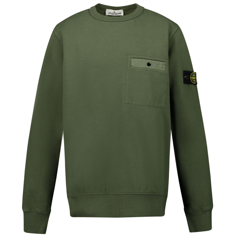 Picture of Stone Island 60142 kids sweater dark green