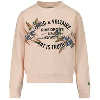 Picture of Zadig & Voltaire X15234 kids sweater light pink