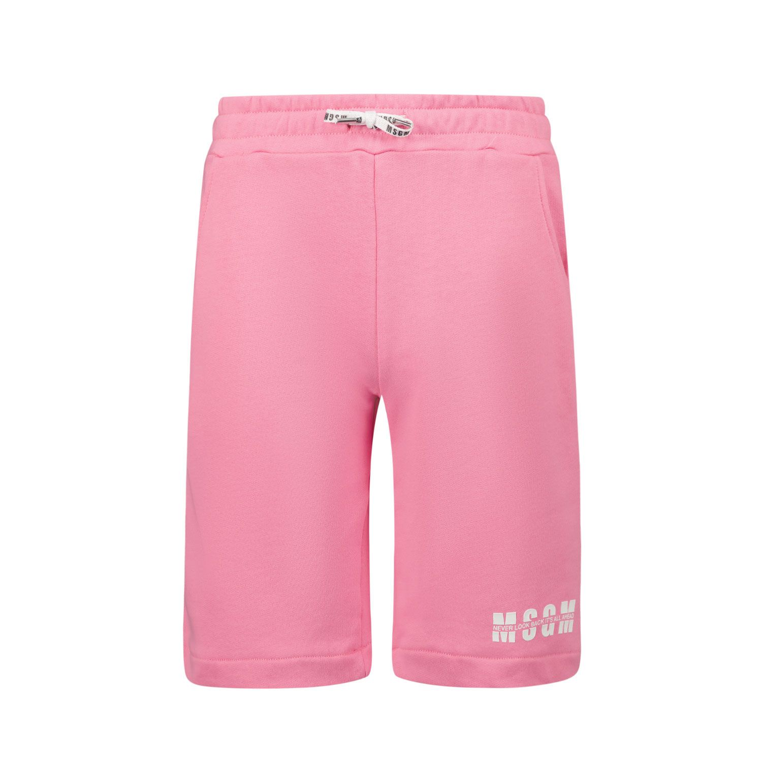 Picture of MSGM MS026821 kids shorts pink