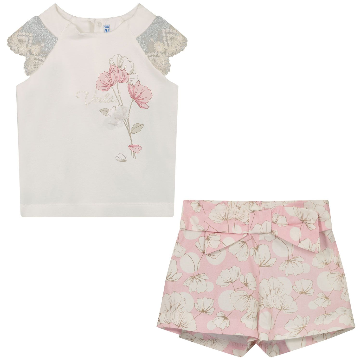 Picture of Mayoral 1233 baby set light pink