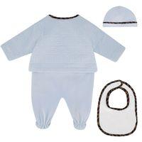 Picture of Fendi BUK068 ACVP baby playsuit light blue