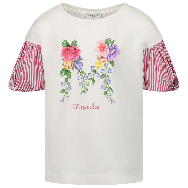 Afbeelding van MonnaLisa 117607SF kinder t-shirt off white