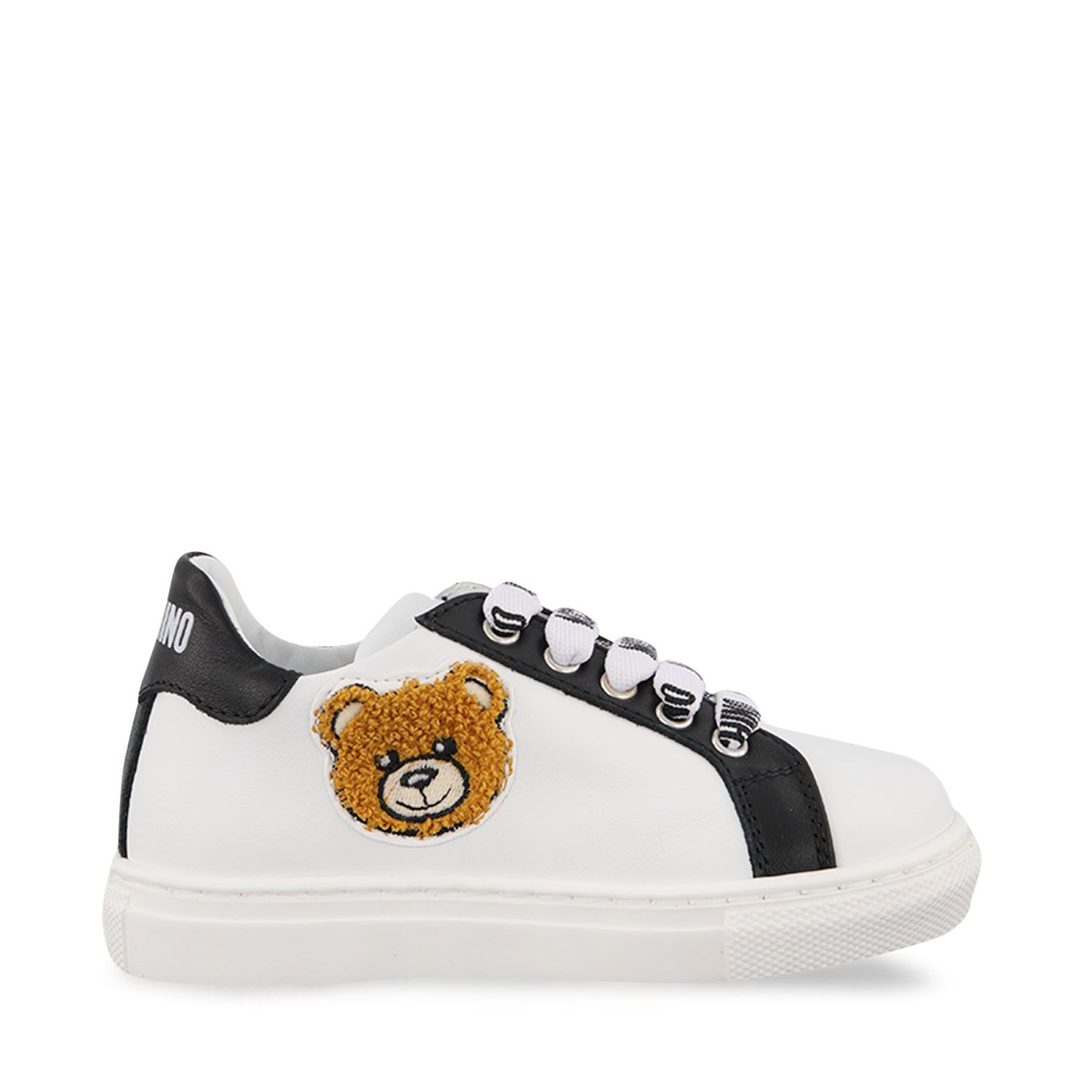 Picture of Moschino 67389 kids sneakers black