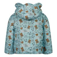 Picture of Moschino MUS021 baby coat light blue