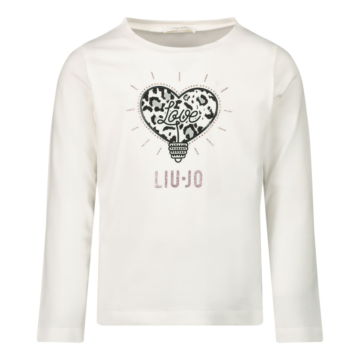 Picture of Liu Jo KF0064 kids t-shirt off white