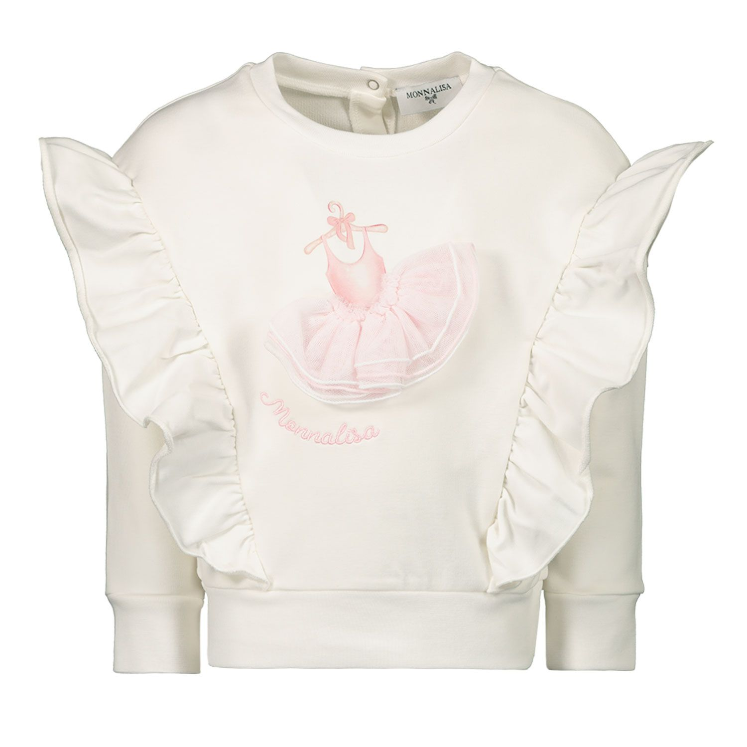 Picture of MonnaLisa 397605R7 baby sweater off white