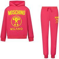 Picture of Moschino HUK02M kids sweatsuit fuchsia