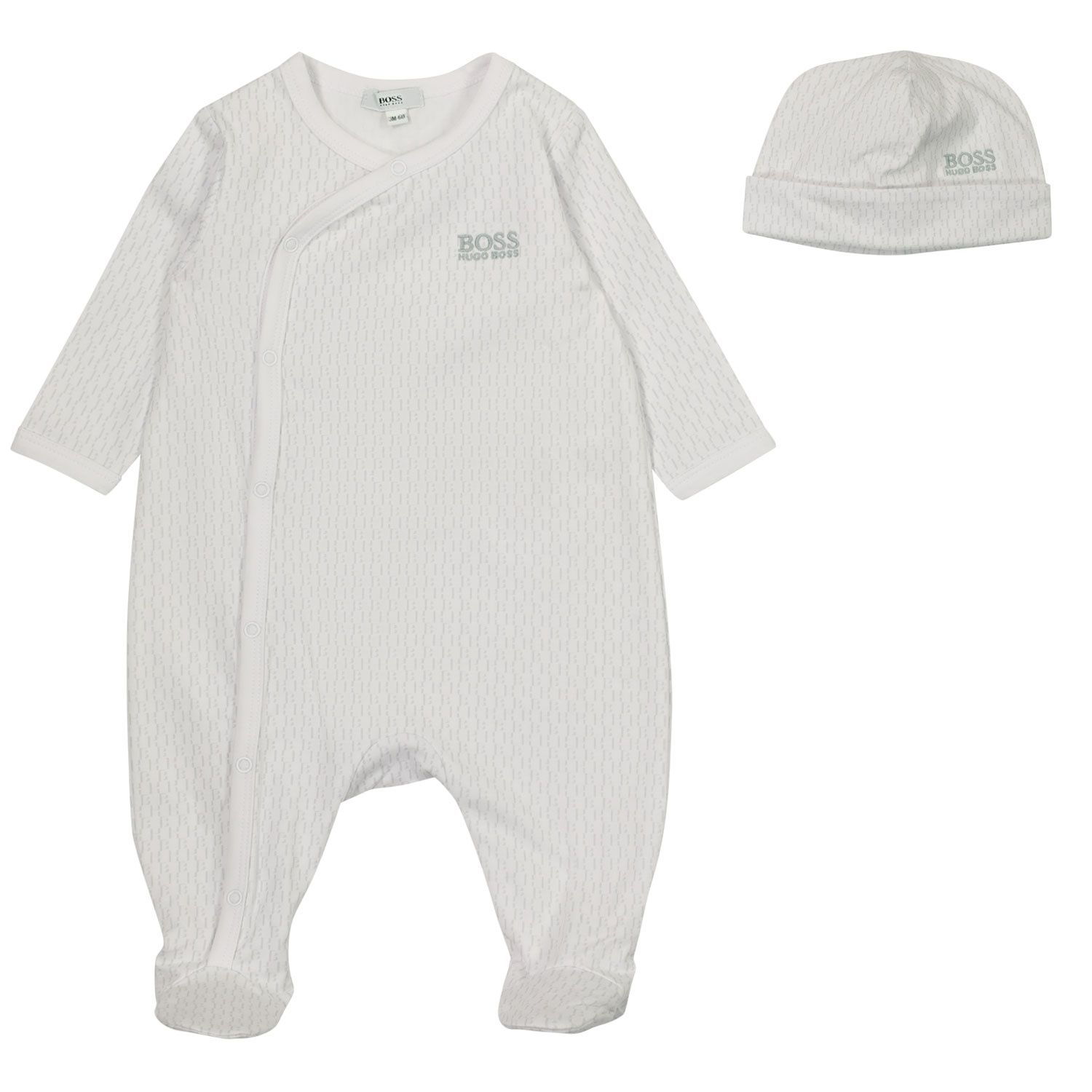 Picture of Boss J98322 baby playsuit white
