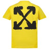 Afbeelding van Off-White OGAA001F21JER0081810 kinder t-shirt geel