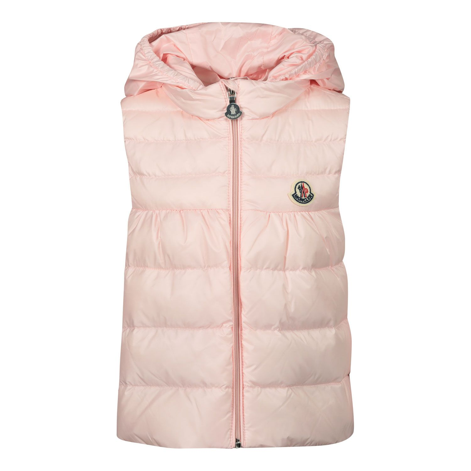 Picture of Moncler 1A10610 baby bodywarmer light pink