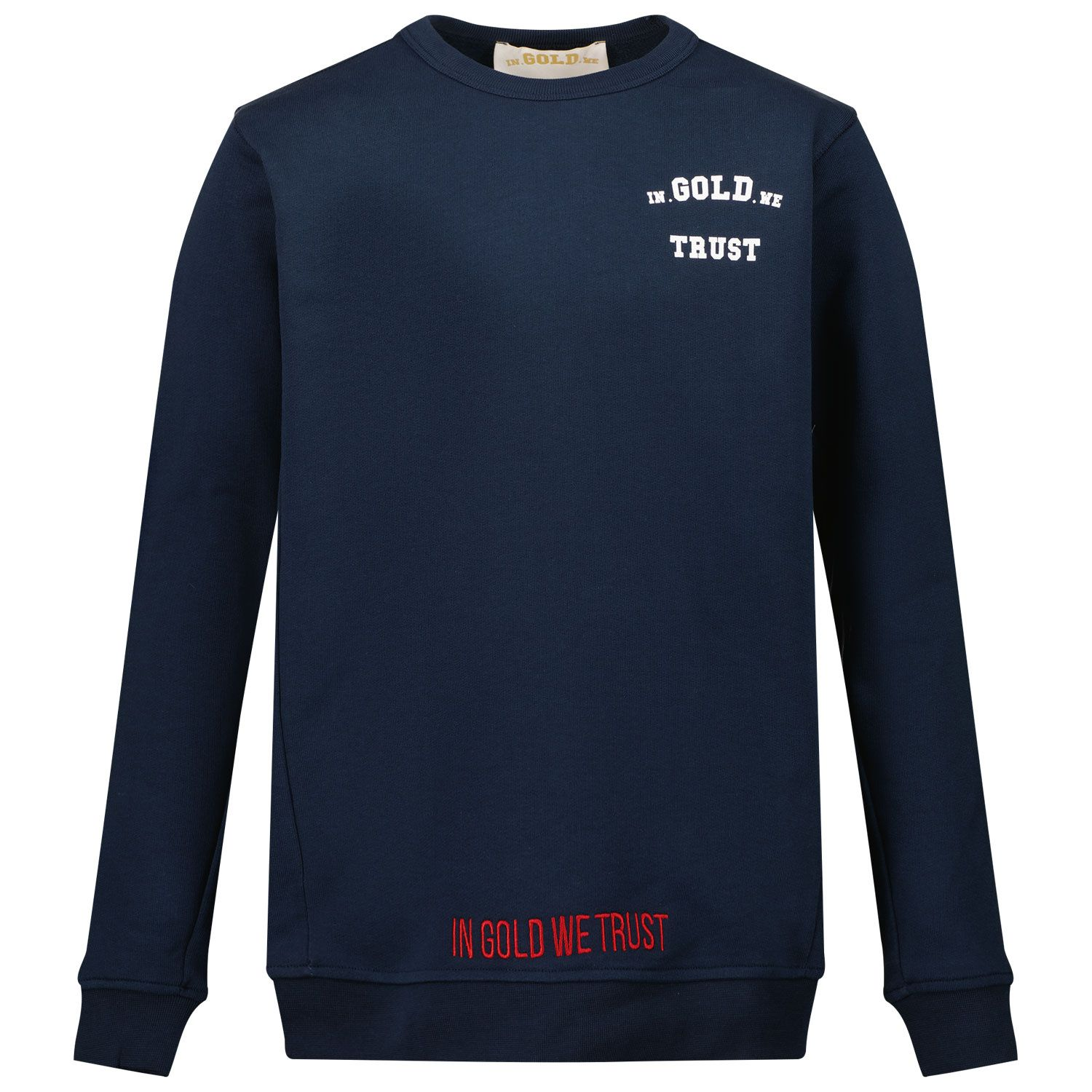 Picture of in Gold We Trust THE SLIM kids sweater navy