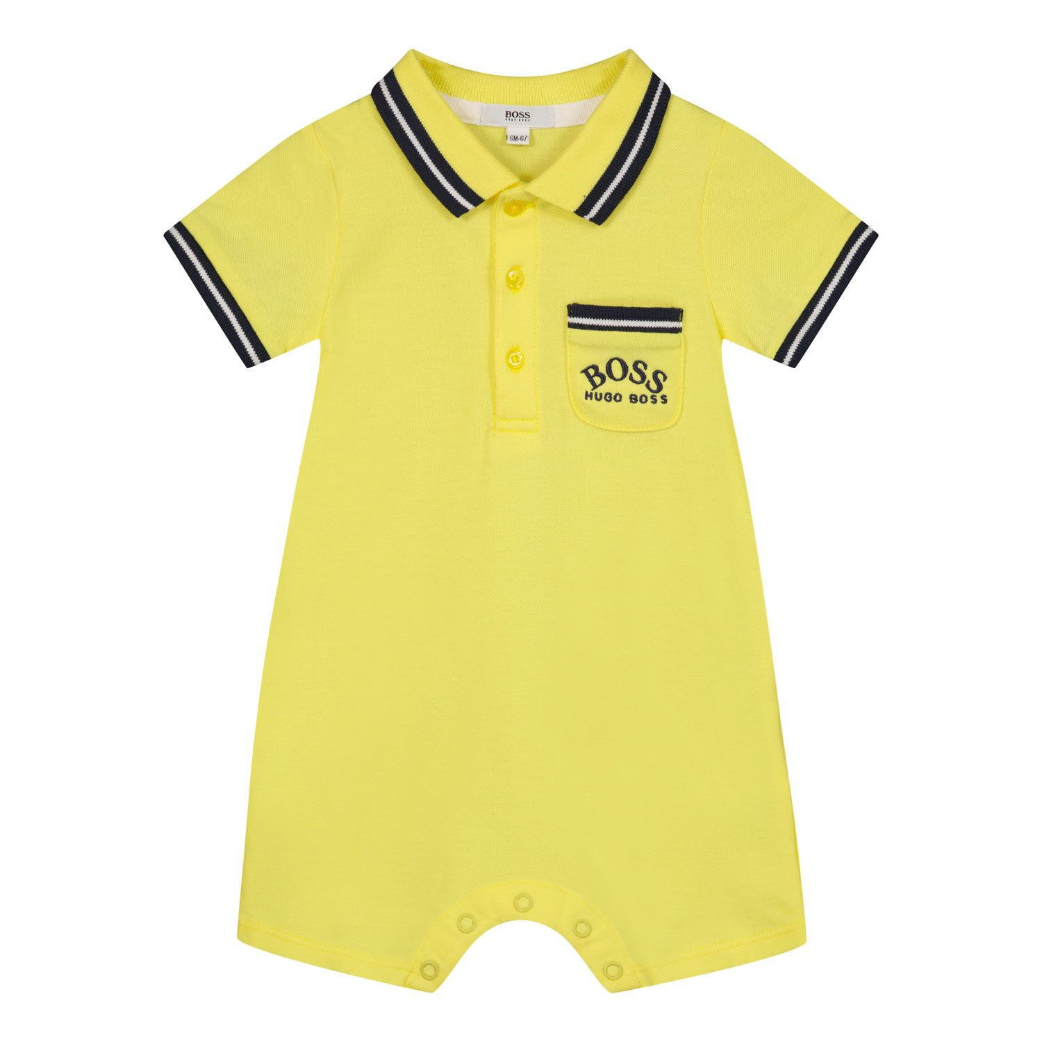 Picture of Boss J94276 baby playsuit yellow