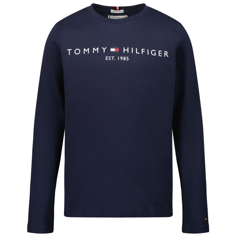 Afbeelding van Tommy Hilfiger KS0KS00202 kinder t-shirt navy