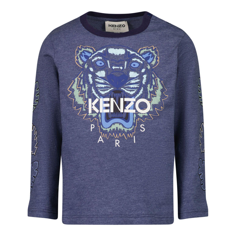 Afbeelding van Kenzo K05114 baby t-shirt donker blauw