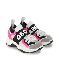 Picture of Dsquared2 68556 kids sneakers white