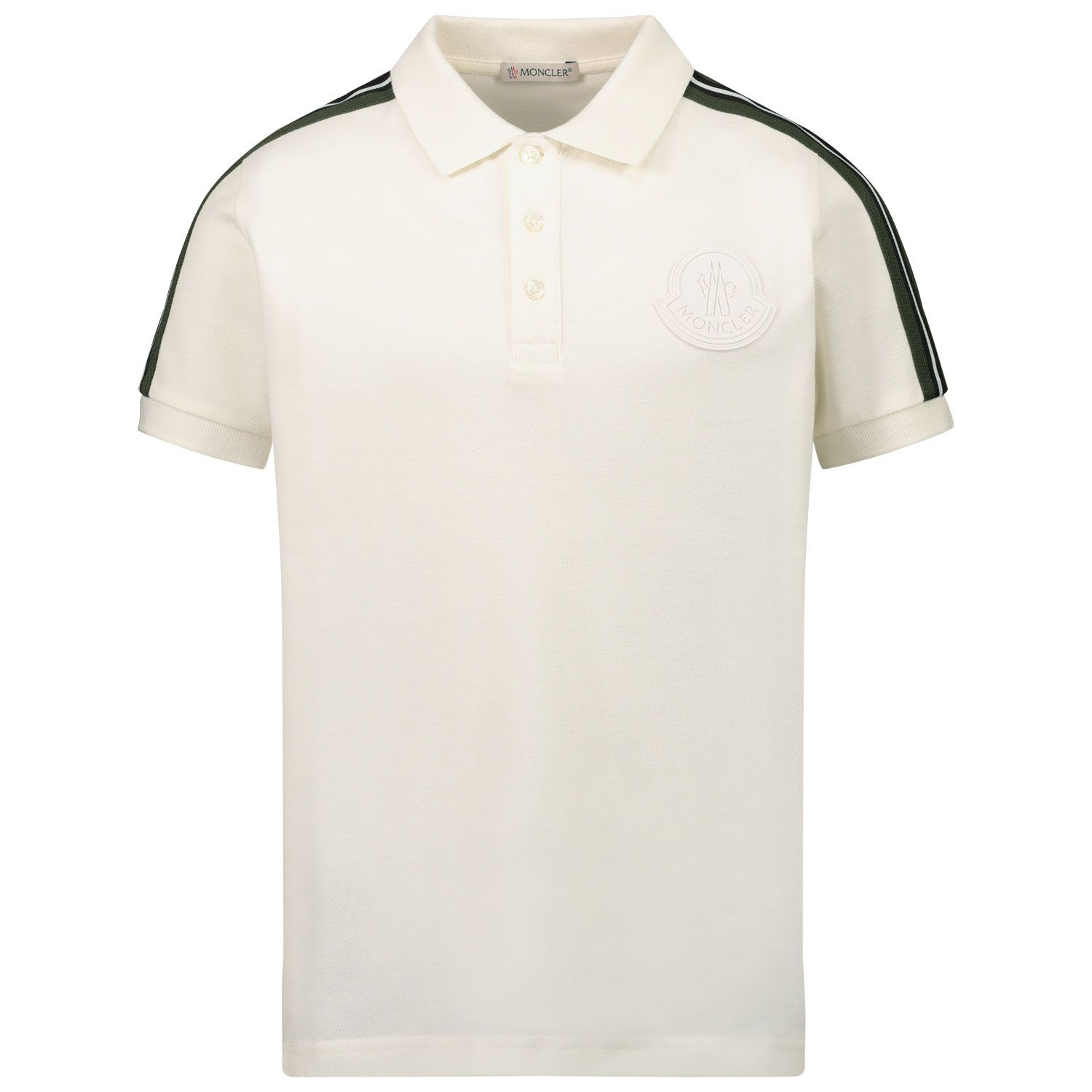 Afbeelding van Moncler 8A71020 kinder polo off white