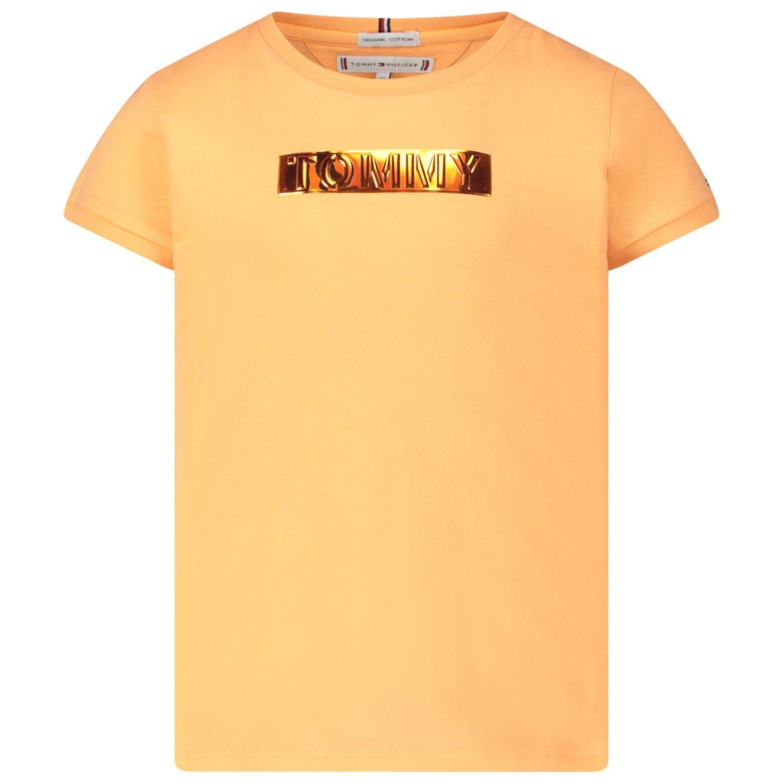 Afbeelding van Tommy Hilfiger KG0KG05028 kinder t-shirt zalm