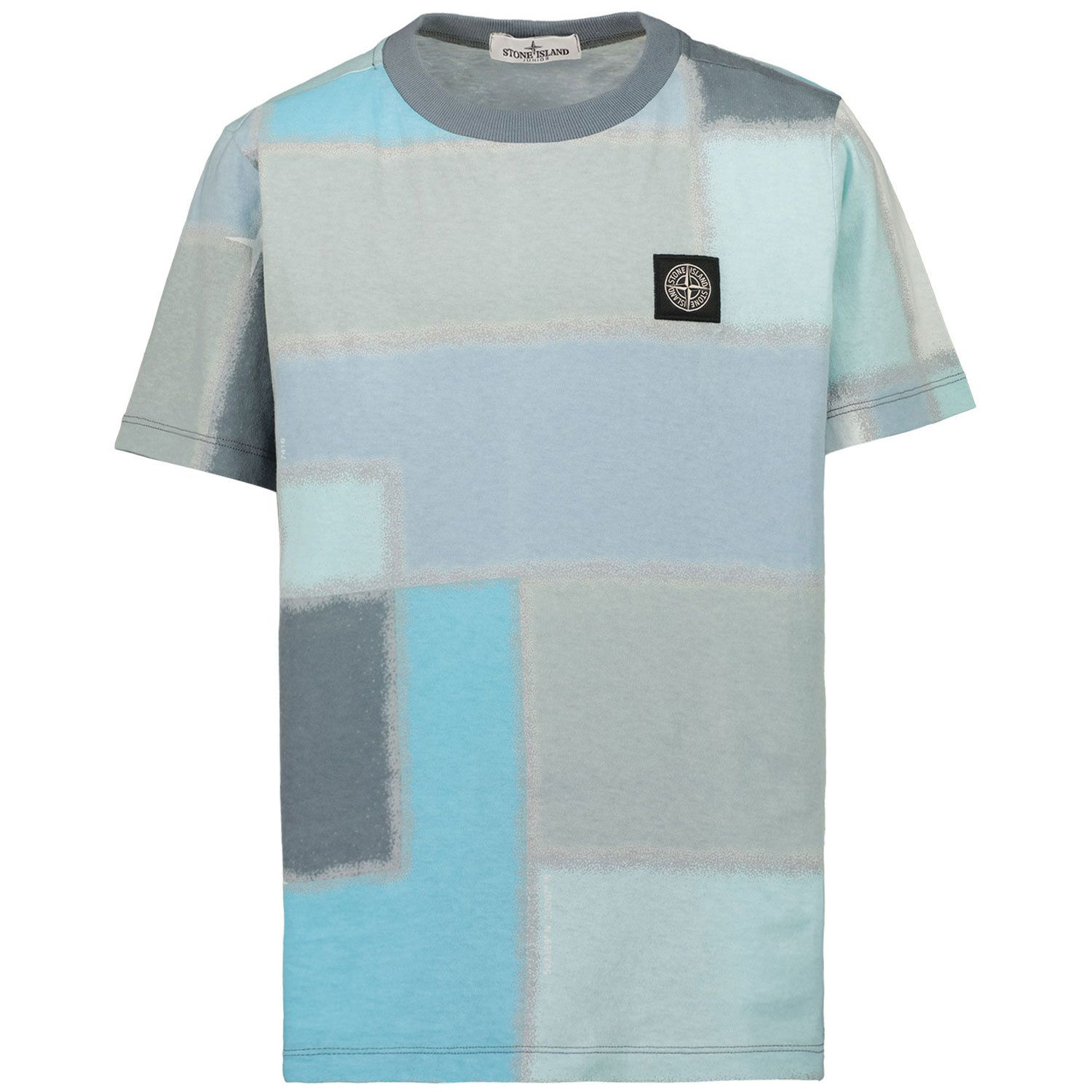 Picture of Stone Island 21446 kids t-shirt light blue