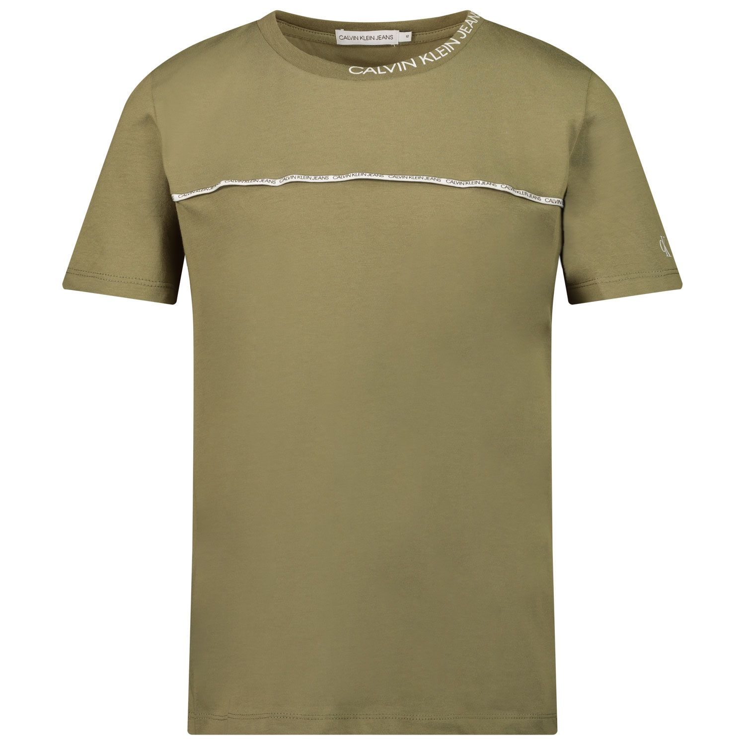 Picture of Calvin Klein IB0IB00695 kids t-shirt olive green