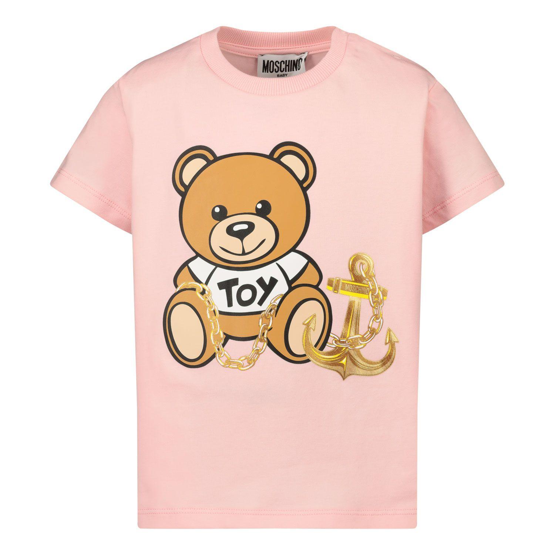 Afbeelding van Moschino MDM02U baby t-shirt licht roze