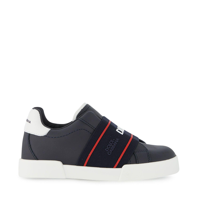 Picture of Dolce & Gabbana DA0793 AF512 kids sneakers dark blue