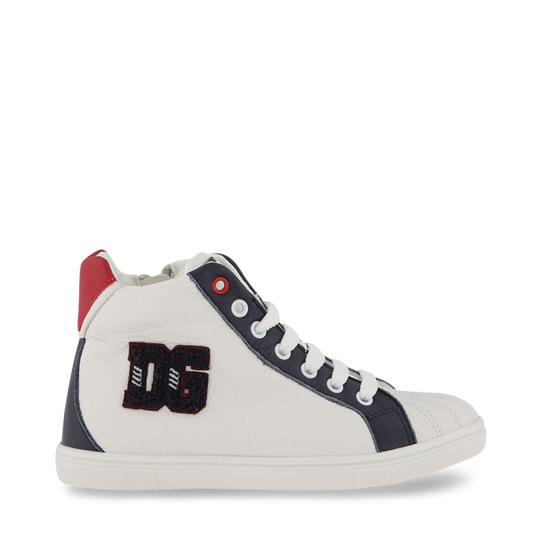 Picture of Dolce & Gabbana DA5020 AV594 kids sneakers white