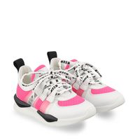 Picture of MSGM 67274 kids sneakers fluoro pink