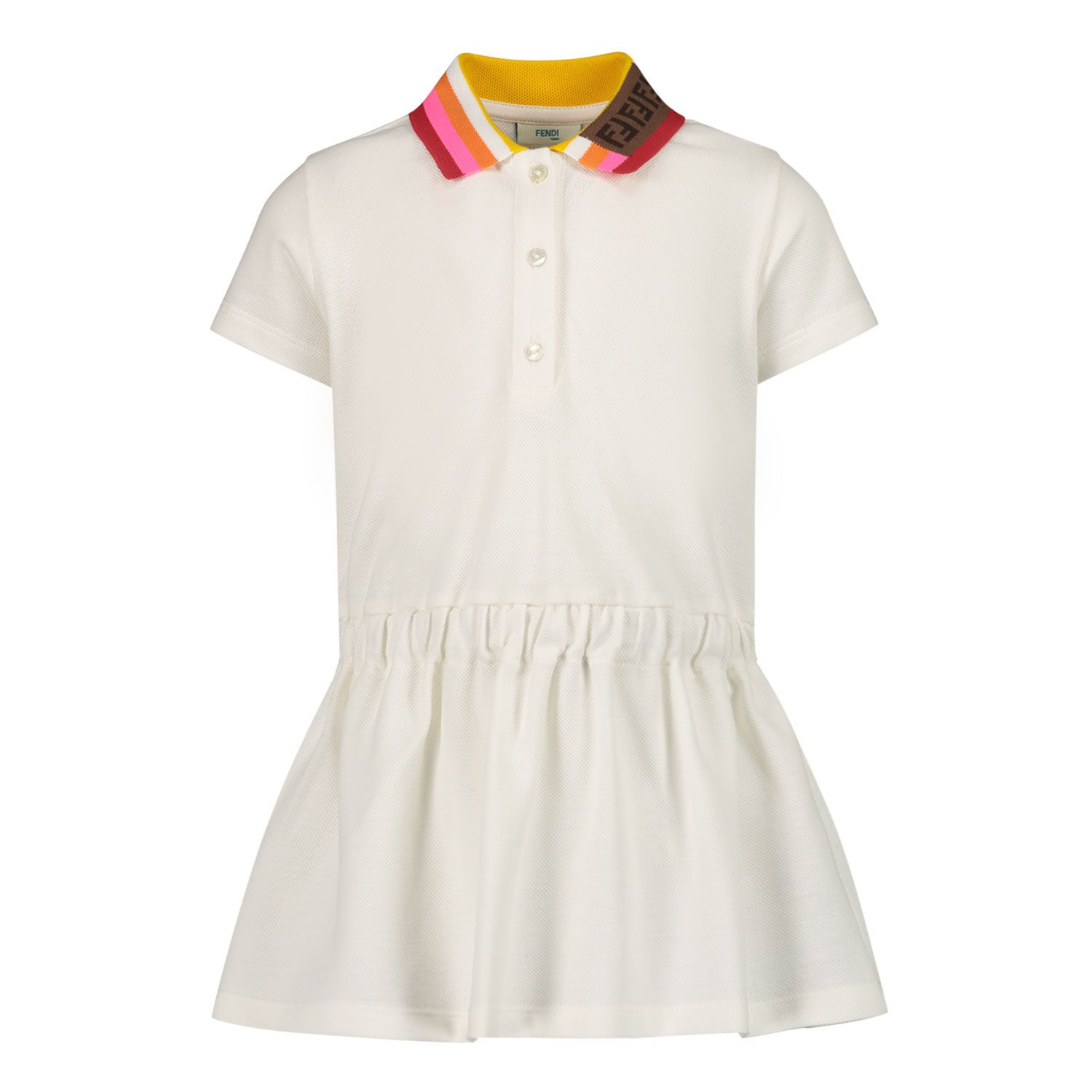 Picture of Fendi BFB360 AVP baby dress white