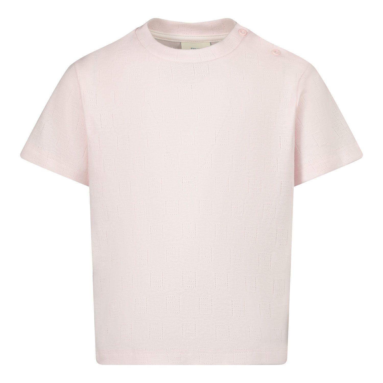 Bild von Fendi BUI015 AEX1 Baby-T-Shirt Hellrosa