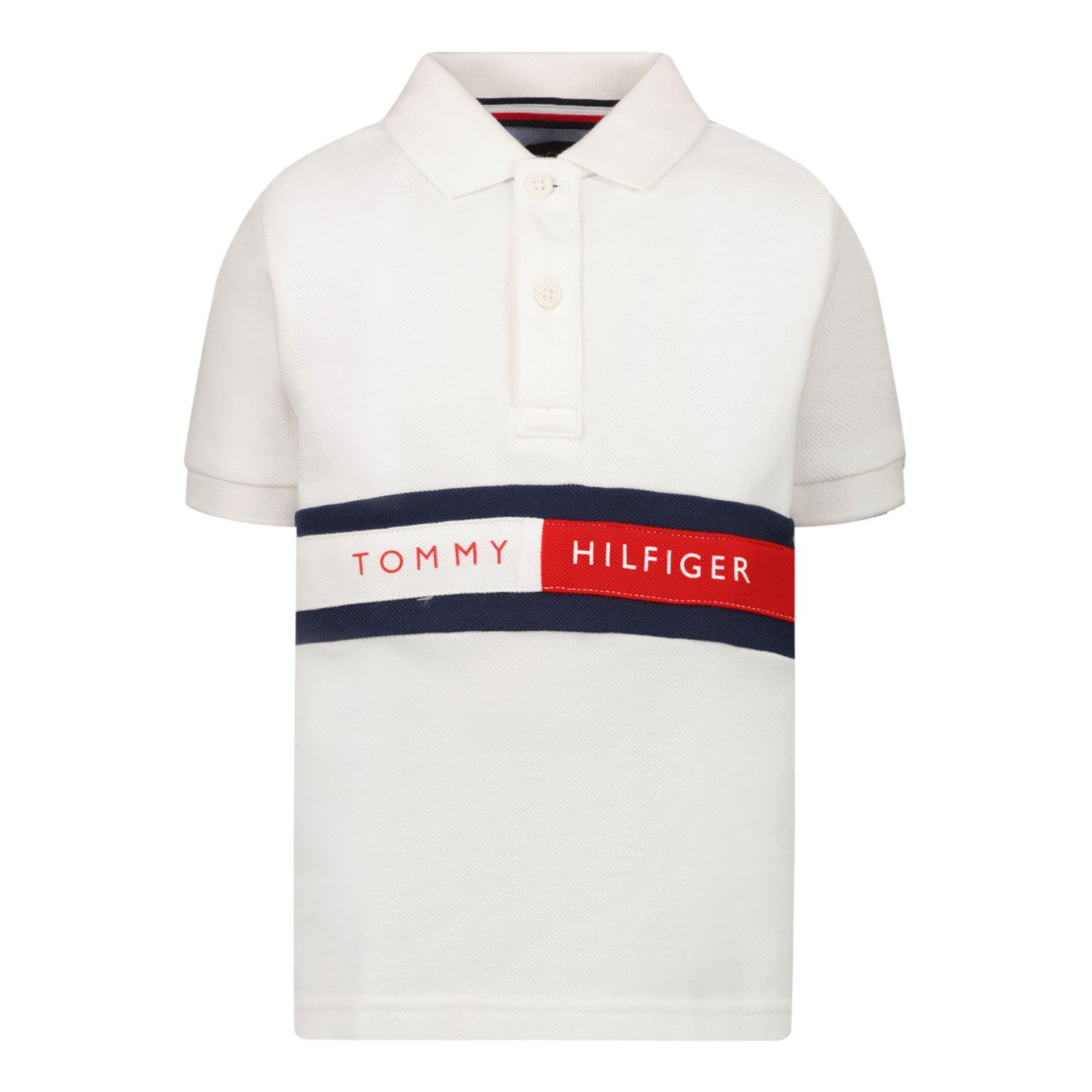 Picture of Tommy Hilfiger KB0KB06535 B baby poloshirt white