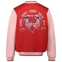 Picture of Kenzo KR41018 kids jacket red