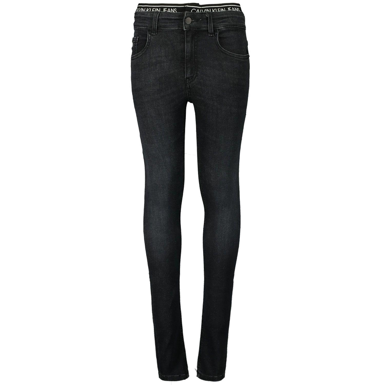 Picture of Calvin Klein IB0IB00584 kids jeans black