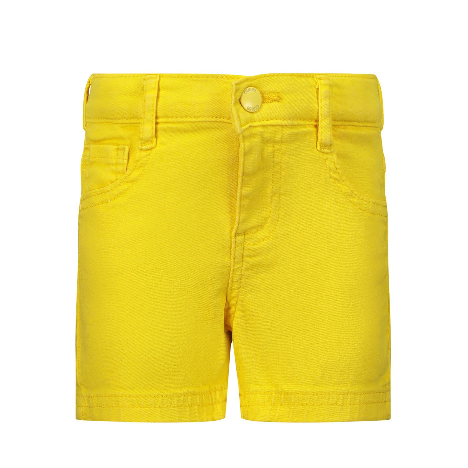 Picture of Guess K1RD01 kids shorts yellow